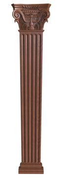 Classical wooden column