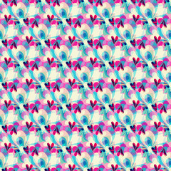 small Abstract seamless colored pattern in retro style