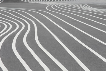 White lines on grey, abstract