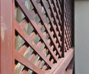Beautiful wood paneling, decorative fence for garden