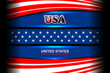 usa flag color backgrounds, vector illustration