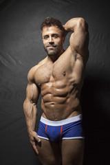 bearded muscular man