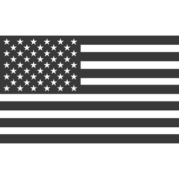 American flag icon with shadow isolated on a white background