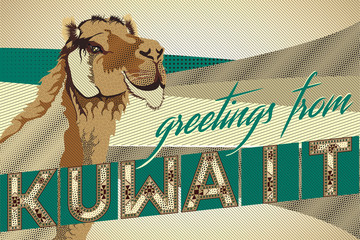 Greetings From KUWAIT Camel Card