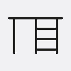 Horizontal bar icon illustration