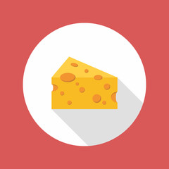 Cheese flat style icon