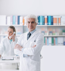 A doctor with his assistant in the office
