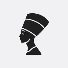Nefertiti icon illustration