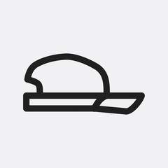 Cap icon illustration