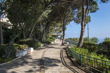 Louis Promenade in Haifa, Israel