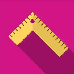 Ruler flat icon illustration