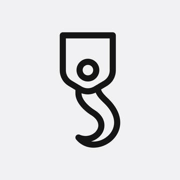 Hook icon illustration