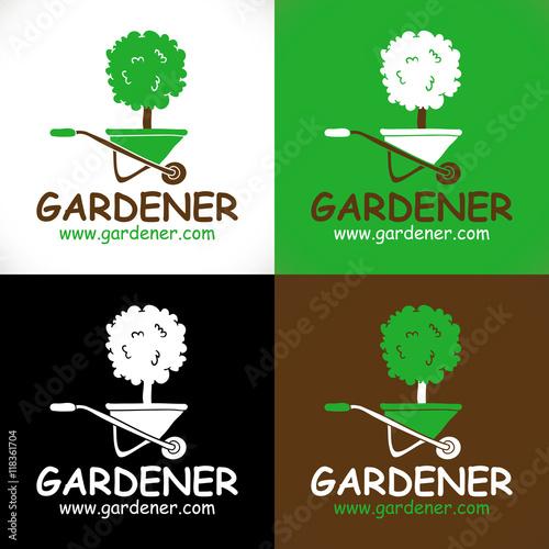 Logo arbre brouette jardinier paysagiste fichier for Tarif jardinier paysagiste