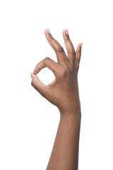 Hand okay African american