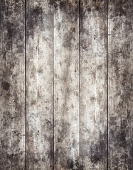 Old stained wooden board background, empty copy space