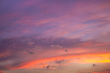 Colorful cloudscape over sky twilight time