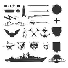 Military vector symbols mega set