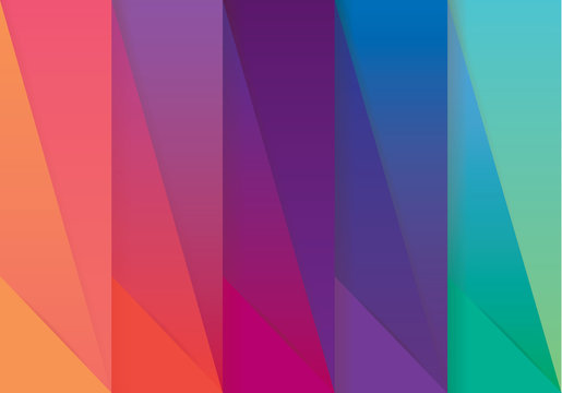 Multicolored abstract wallpaper pattern in material design style