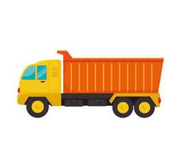truck dump cargo icon vector