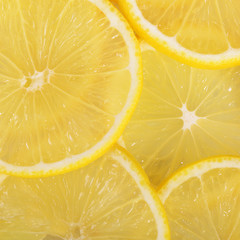 The fresh lemon a background closeup