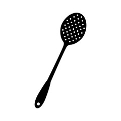 slotted spoon kitchen icon vector
