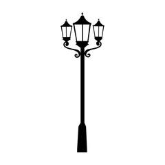 street lamp light illumination icon vector