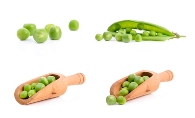 Delicious peas on the table
