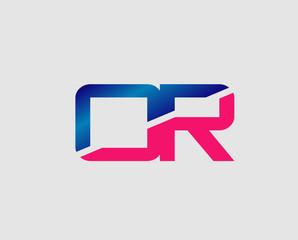 OR Logo. Vector Graphic Branding Letter Element