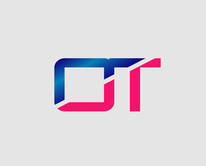 OT Logo. Vector Graphic Branding Letter Element