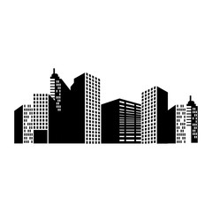 building structure silhouette window tower city dowtown corporate  vector  illustration isolated