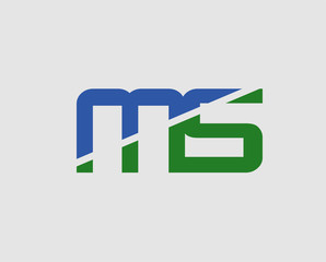 M and S logo vector. logotype template