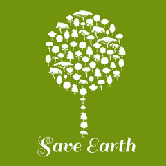 Save Earth. Environmental ecology icon