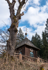 Wooden church at village Cierny Vah, Slovakia