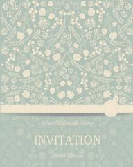 Vintage card or wedding invitation