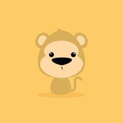 Cute Cartoon Wild monkey
