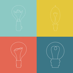 Vector Lightbulb Icon Set