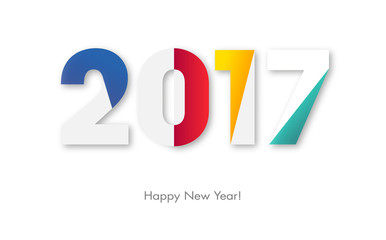 2017 Happy New Year Fototapete