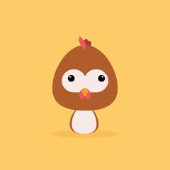 Cute Cartoon Wild chicken