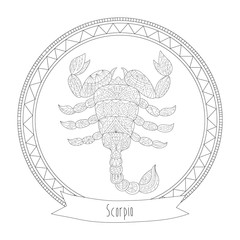 Scorpio - Coloring for Adults