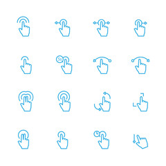 Sensory Blue Line Icons