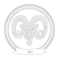 Aries - Coloring for Adults