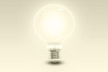 big light bulb - monochrom