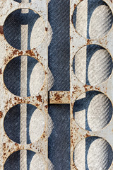 Abstract background of slate and metal