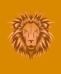 Wild Lion head graphic