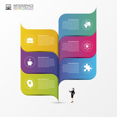 Abstract infographic design template. Vector