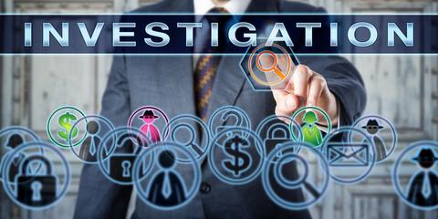 Private Investigator Pressing INVESTIGATION