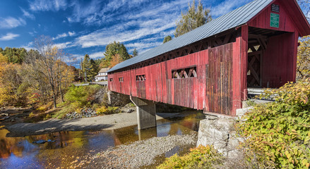 Beautiful covered bridge in Vermont, USA