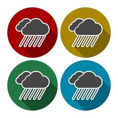 Set of color cloud icons