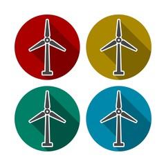 Wind Turbine Wind Power Icon Colorful Icon Set