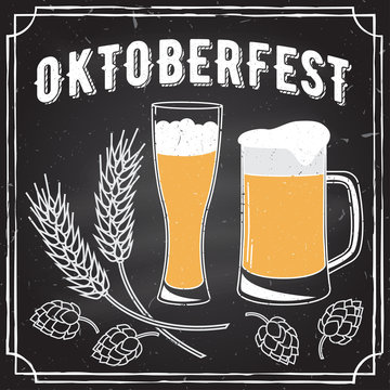 Oktoberfest vector illustration.